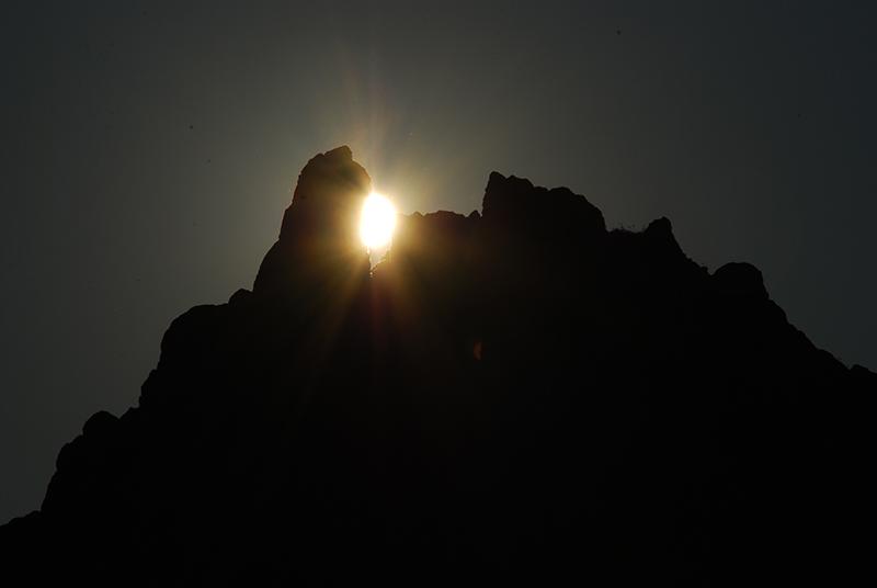 Појавување на сонцето на обредниот маркер