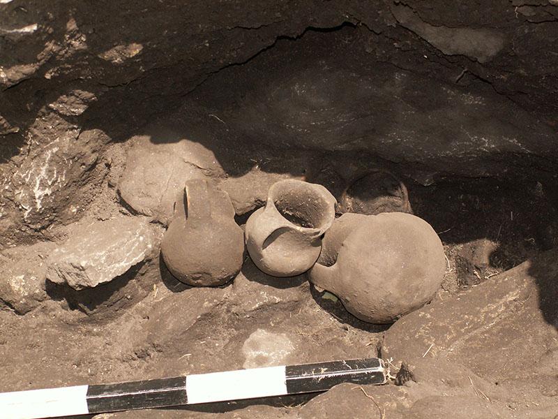 Керамички садови откриени при ископување